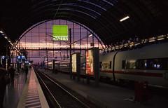 Frankfurt Hauptbahnhof at sunset (mkk707) Tags: film analog 35mmfilm germancameras vintagefilmcamera vintagelens zeissikoncontarex carlzeissplanar1250mmcontarexmount silbersalz35500t wwwsilbersalz35com frankfurtammain hauptbahnhof sunset cinefilm zeissikonstyle