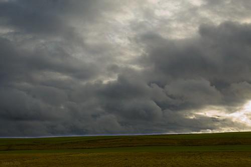 Fields and clouds ©  Егор Журавлёв