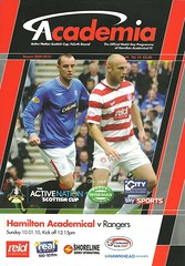 Hamilton Academical v Rangers 20100110 (tcbuzz) Tags: hamilton academical accies football club new douglasgow park scotland scottish cup programme
