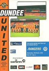 Dundee United v Rangers 20100324 (tcbuzz) Tags: dundee united football club tannadice park scotland scottish cup programme