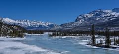 Saskatchewan river crossing (Robert Grove 2) Tags: alberta canada snow ice river landscape nature cold frozen