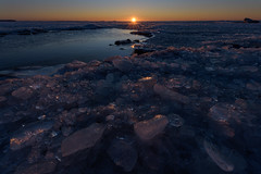 In the kingdom of ice (Elena Lebedeva) Tags: sunset beach landscape waterscape russia sestroretsk gulfoffinland evening nature winter ice outdoors