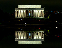 Lincoln Memorial (Victor Dvorak) Tags: lincolnmemorial washington washingtondc reflectingpool reflection abrahamlincoln monument nationalpark travelphotography streetphotography landscapephotography nightphotography availablelight longexposure hdr nikon d300s 2870mmf28d