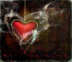 BeMine (clabudak) Tags: abstract art artistic background bright cold concept dark decorative design flowing heart idea modern motion movement mystery natural ring round shape smoke smooth valentine