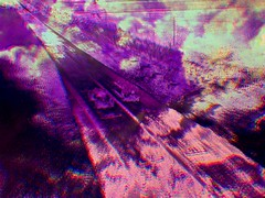 a race to the start (fibreman) Tags: digital abstract art manipulation weird dream nightmare lofi manchester uk composite fuzzy distorted pink purple psychedelic cloud cars recycled photograph creative cosmic altered autistic burnout anxiety memories road 3d druggy damaged eroded decay nausea photo photoshop paintshoppro psychedelia lsd ambient experimental fuzz retrofuturism