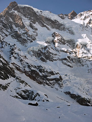 Where a man is just a small thing (Marco MCMLXXVI) Tags: monterosa parete est east macugnaga italy europe alps man mountaineering hiking escursionismo rugged huge icefield glacier mountain montagna winter inverno lightandshadow landscape scenery outdoor nature cliff natura snow ice ridge sony ilce6000 a6000 pz1650 rawtherapee alpi rockformation crevasses alpe pedriola lago locce ossola valle anzasca big bigwall vastness cold history classic