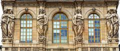Louvre detail (albyn.davis) Tags: paris france europe louvre building architecture windows scupture art decoration museum panorama statues exterior travel color