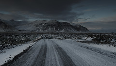 Heading North (F VDS) Tags: bjarnarhöfn peninsula winter iceland december snow mountains unpaved road dark clouds landscape snaefellsnes