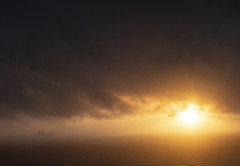 West Kerry Sunset (2c..) Tags: 2cimage ireland ©2c beauty best north atlantic kerry moody ocean sun set ambient atmosphere wild way water light sky skelligs islands rain mist