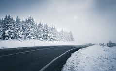 Vanishing point? (Through_Urizen) Tags: category flora landscape panorama places snow turkey bozdag mountain snowy trees road car fog canon90d sigma1020mm canon outdoor landscapephotography curve travelphotography eskişehir weather winter cold frozen
