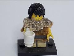 SAMMY THE ORPHAN (krisdecatte) Tags: lego minifigurines medieval custom beggar poor