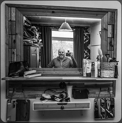 Selfie, camera included. . . (CWhatPhotos) Tags: cwhatphotos camera photographs photograph pics pictures pic picture image images foto fotos photography artistic that have which contain digital olympus four thirds omd em1 mkll self selfie selfee me man male goatee mirror mirrored reflection look pose portrait poser hoody with included