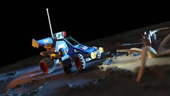 Febrovery 2020 Day 05:  Moon-Rail Encounter (Littlepixel™) Tags: ncs neo classic space febrovery buggy rover moon planet crater lego moc afol blender ldraw tentacles