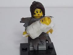LINA THE WIDOW (krisdecatte) Tags: lego minifigurines medieval custom beggar poor