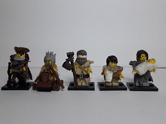 THE POOR, THE DRUNK AND THE BEGGARS (krisdecatte) Tags: lego minifigurines medieval custom beggar poor