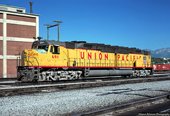 EMD's Double Diesel (jamesbelmont) Tags: utah saltlakecity powerhouse northyard railway railroad locomotive train centennial dda40x emd unionpacific