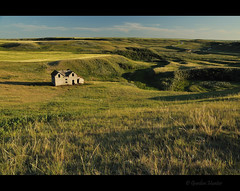 on the map (Gordon Hunter) Tags: landscape view scene prairie country rural valey hills grass field house home shack abandoned decay old evening color summer ab canada gordon hunter nikon d5000
