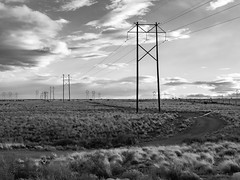 (el zopilote) Tags: newmexico clouds landscape albuquerque westmesa blackandwhite bw blancoynegro monochrome lumix noiretblanc nb bn powerlines m43 g9 leicadgsummilux25mmf14 500