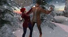 Snowball Fight (antoniohunter55) Tags: signaturegianni maitreya catwa bento secondlife