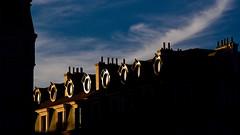 Lyon - L'ovale des fenêtres mansardées. (Gilles Daligand) Tags: lyon rhone fenetres mansardes ovale coucherdesoeil sunset