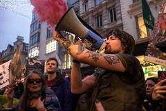 Born To Be Free (Silver Machine) Tags: london mayfair streetphotography street candid streetportrait antifur fashionantifur people protest streetprotest march flare megaphone outdoor fujifilm fujifilmxt10 fujinonxf18mmf2r