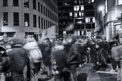 Reinhardtstraße 14/16 am 2020-02-05 - III (Pascal Volk) Tags: berlin mitte reinhardtstrase berlinmitte demo demonstration political manifestación marcha kundgebung people street monochrome einfarbig blau blue azul wideangle weitwinkel granangular ww wa invierno winter canoneosr canonrf35mmf18ismacrostm 35mm dxophotolab dxosilverefexpro nikcollection ilfordpan100 nacht night noche donnerstagsmonochrom thursdaymonochrome