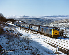 31410 In Sun & Snow (chrissyMD655) Tags: sc settle carlisle garsdale br blue class 31 31410 snow fells