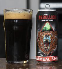 Rebellion Oatmeal Stout (Cody La Bière) Tags: rebellionbrewing oatmealstout rebellionoatmealstout regina saskatchewan