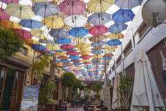 nicosia restaurant on turkish side (van1o) Tags: nicosia cyprus restaurant turkey parasols colors sony sonya7 sonyilce7 travel