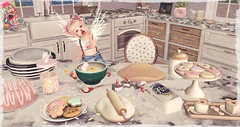 Baking in the Kitchen (YumimoonSparkles) Tags: toddleedoo truth cute baking cooking whatnext halfdeer dustbunny randommatter cookies kawai kid mess enfersombre photography secondlife sl