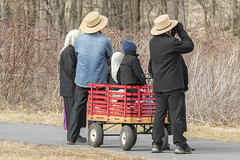 Middle Creek Bird Watchers (freshairphoto) Tags: bird watchers binoculars wagon scarves straw hat middle creek wildlife management area kleinfeltersville pa artspearing nikon d500 200500 zoom handheld