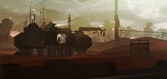 InSilico Space Station (Tina Destiny) Tags: secondlife virtual world digital rendering landscape sciencefiction scifi space planet mars futuristic environment fantasy firestorm