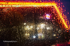 Neon Rain (Photographybyjw) Tags: neon rain hard obscures bright sign this local restaurant north carolina ©photographybyjw light color water rural small town
