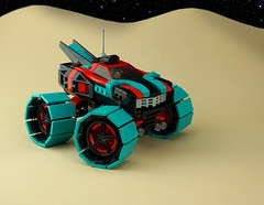 Roveside Assistance Wrecker (TFDesigns!) Tags: lego space rover febrovery tow truck wheel teal