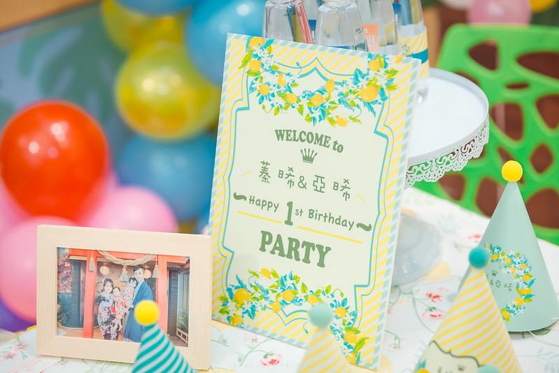 [親子寫真] 蓁晞&亞晞 雙胞胎周歲派對 @ 貝兒絲樂園 新莊館 | 婚攝楊康