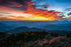 Cowee Mountain Western NC Blue Ridge Sunset (johanhakanssonphotography) Tags: sunset blueridgemountains blueridgeparkway blueridgecountry blueridge southernappalachians appalachians mountains scenic blue rhapsody clouds flames sky coweemountains cowee coweeoverlook coweeridge nantahalanationalforest highlands travel landscape landscapephotographymagazine landscapephotography digitalphotography nikon johanhakanssonphotography fall autumn october cold outside outdoors heaven hills ridges reallyrightstuff d800 filter singhray gnd nature beauty