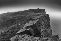 Windgather Rocks (l4ts) Tags: landscape derbyshire cheshire peakdistrict darkpeak taxaledge windgatherrocks gritstone gritstoneedge lowcloud fog blackwhite monochrome
