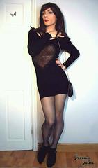 Black Sweater Dress (jessicajane9) Tags: tg crossdresser tights xdress m2f travesti femme transgender cd trap crossdress femboi tgurl crossdressed tranny feminised tv crossdressing feminization trans transvestite tgirl gurl