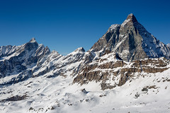 Polaroid (pauldunn52) Tags: monte cervino matterhorn snow winter mountain italy alps