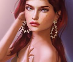 KUNGLERS - Angelina earrings AD (AvaGardner Kungler) Tags: kunglers avagardnerkungler secondlife valentines event shopping gift mesh virtual earrings portrait