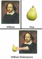 William Shakespeare (gagbee18) Tags: aww celebrities funny funnymemes funnypics memes pear williamshakespeare