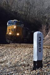 The Post (Tristan_Miller) Tags: csx double coal train co chesapeake ohio milepost hilldale wv west virginia