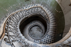 spiral (re_awaken) Tags: explore urbanexploring exploring stairway disrepair staircase stair canon photographing dilapidated dilapidation decay decaying
