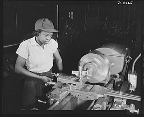 Black women do skilled work at the Navy Yard: 1942 ca.