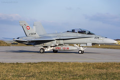 Swiss Air Force, McDonnell Douglas F/A-18D Hornet, J-5234. (M. Leith Photography) Tags: add tags swiss air force jet mcdonnell douglas fa18c hornet switzerland sunshine military plane mark leith photography nikon d7000 70200vrii nikkor aviation cockpit payerne