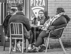 I'll pretend you didn't say that.... (Patricia Wilden) Tags: cambridge eos70d street candid howdidwedo monochrome blackandwhite urbanstreetphotography city