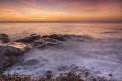 Sunrise at flat rock (Through Bri`s Lens) Tags: sussex lancing beachphotography tide rocks reflections brianspicer canon5dmk3 canon1635f4 leefilters