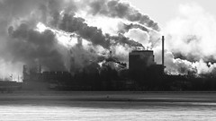 Industrial Landscape, Thunder Bay (For My Uncle) Tags: thunder bay paper mill industrial landscape bw light snow winter smoke steam