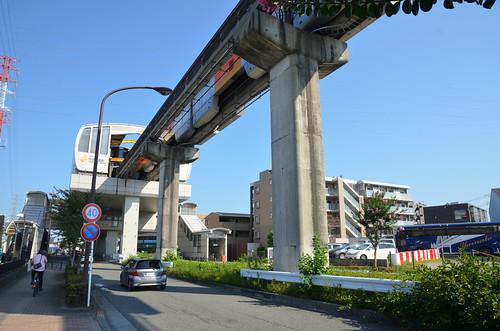 Tama Monorail Train Leaving Koshu-kaido Station 6