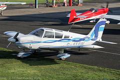G-AYAW - 1970 build Piper PA-28-180 Cherokee, visiting Barton (egcc) Tags: 285805 barton cherokee cityairport egcb gayaw lightroom manchester northeastflyersgroup pa28 pa28180